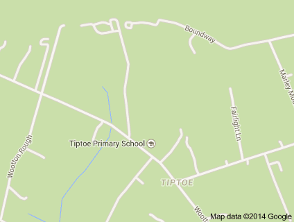 Tiptoe School Map